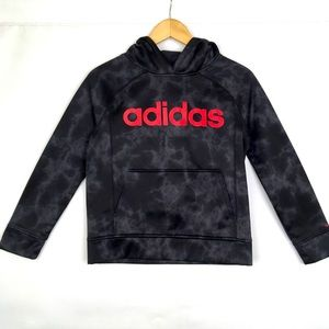 Adidas Pullover Hoodie Youth Medium 10/12 Gray/Red